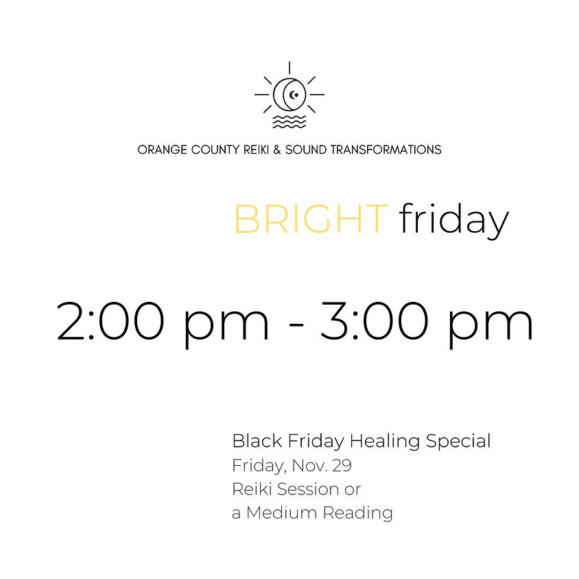 (SOLD OUT) BRIGHT friday | 2:00 pm - 3:00 pm