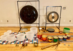 Sound Bath set up