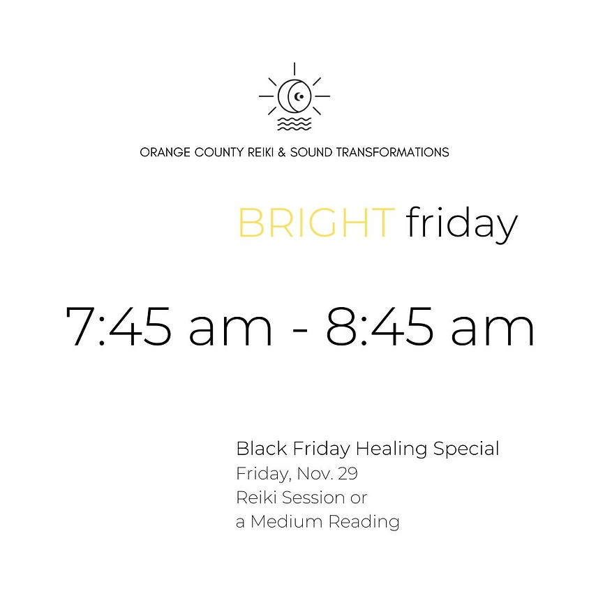 (SOLD OUT) BRIGHT friday     7:45 am - 8:45 am
