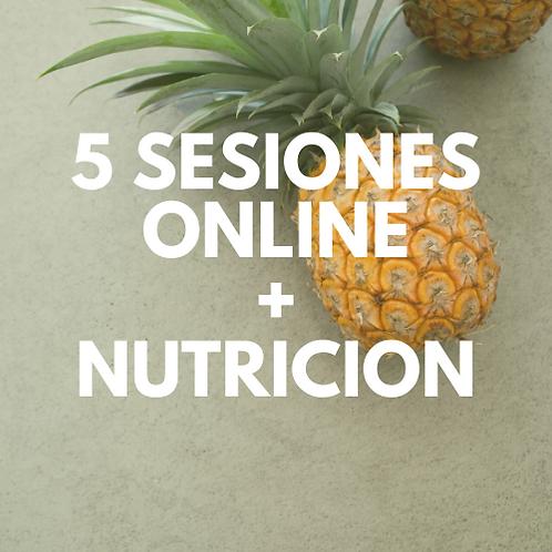 5 SESIONES ONLINE+NUTRICION