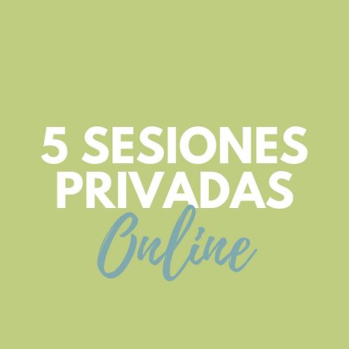 5 Sesiones PRIVADAS ONLINE