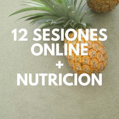 12 SESIONES ONLINE + NUTRICION