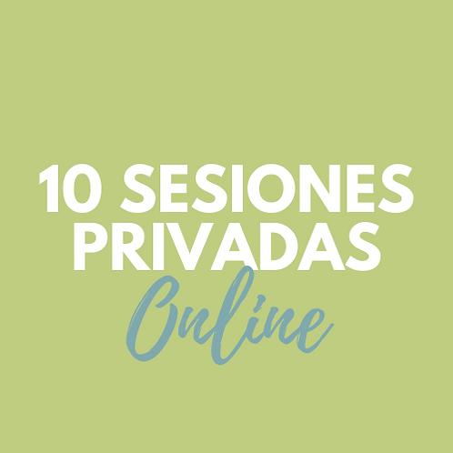 10 Sesiones PRIVADAS ONLINE