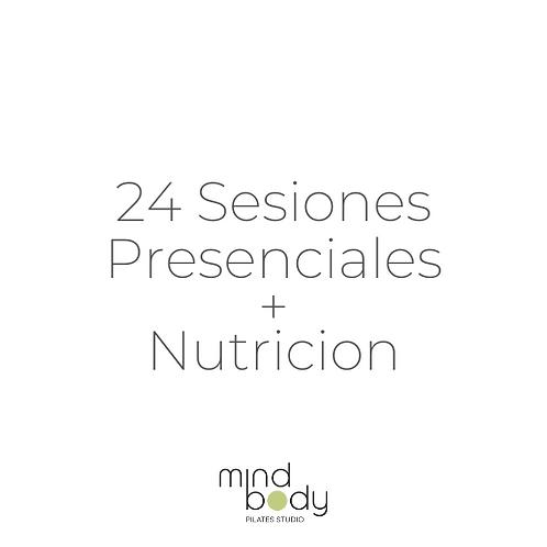 24 Sesiones Presenciales + NUTRICION