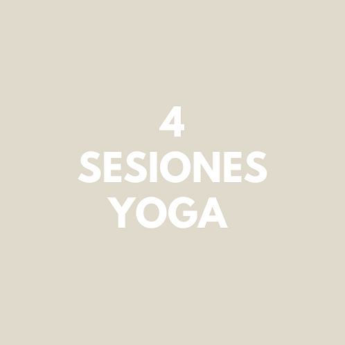 4 Sesiones Yoga