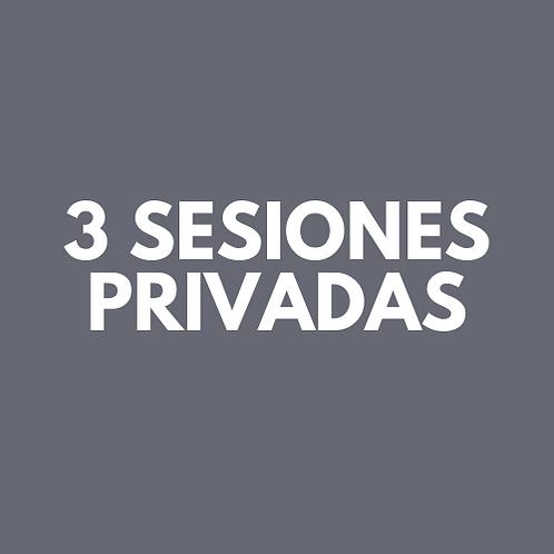 3 Sesiones Privadas