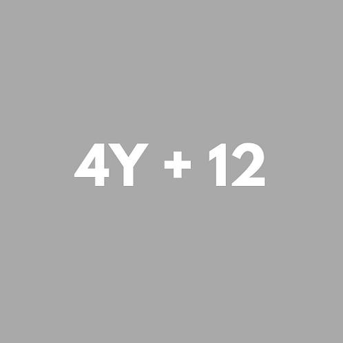 4 SESIONES YOGA + 12 GRUPALES
