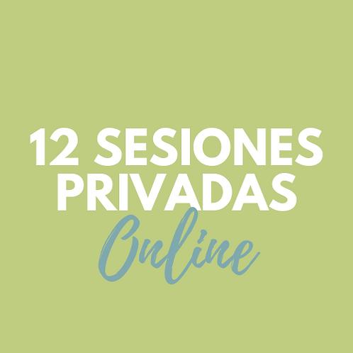 12 Sesiones PRIVADAS ONLINE