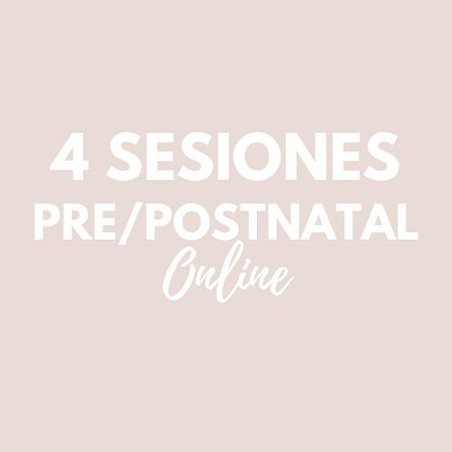 4 Sesiones Pre/Postnatal ONLINE