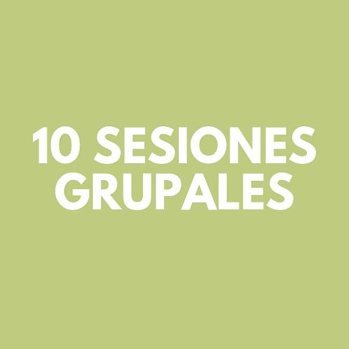 10 Sesiones Grupales (12 meses)