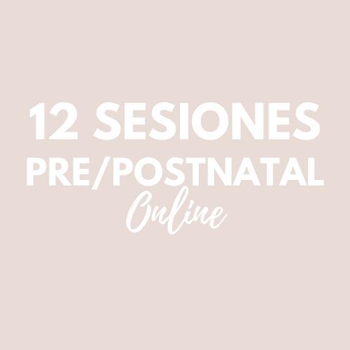 12 Sesiones Pre/Postnatal ONLINE