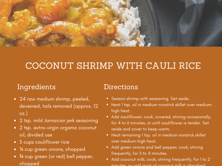 Foodie Friday: Coconut Shrimp with Cauli Rice