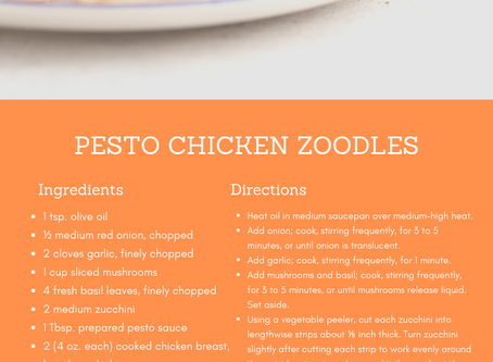 Foodie Friday: Pesto Chicken Zoodles