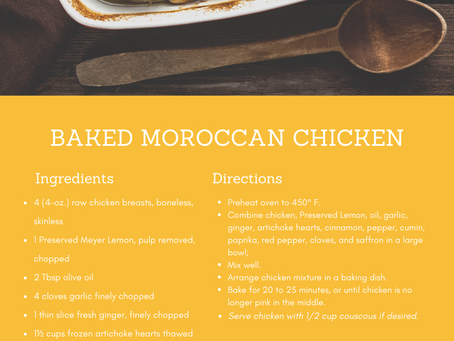Foodie Friday: Baked Moroccan Chicken