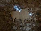 'moulage'; plaster,moulding ,led neon cable, 2018, Mardin