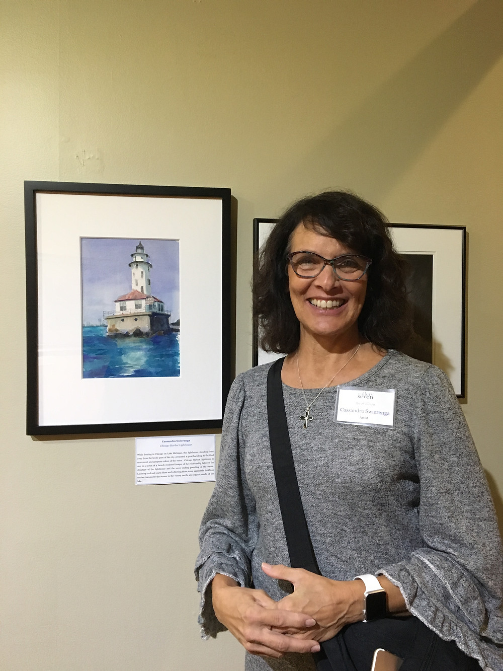 Friend Cassandra Swierenga with her piece in the show.