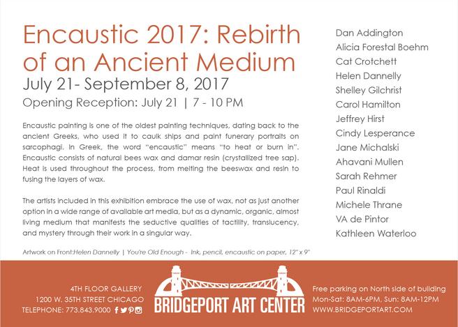 Bridgeport Arts Galleries - Encaustic 2017