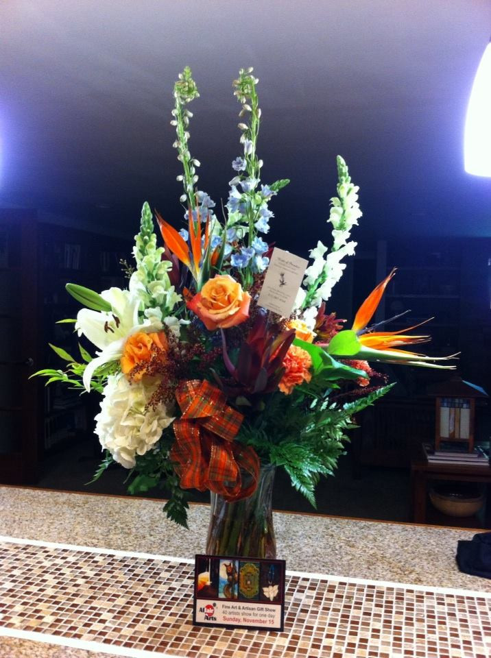 An additional perk of winninng Best of Show.  Beautiful flowers from Birds of Paradise Flower & Gift Shop from Spring Grove, IL.  One of the sponsors of the event!