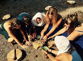 Sister Circle, Priestess Ritual, Ceremony, Water Blessing, Mary Magdalene, Magda Priestess
