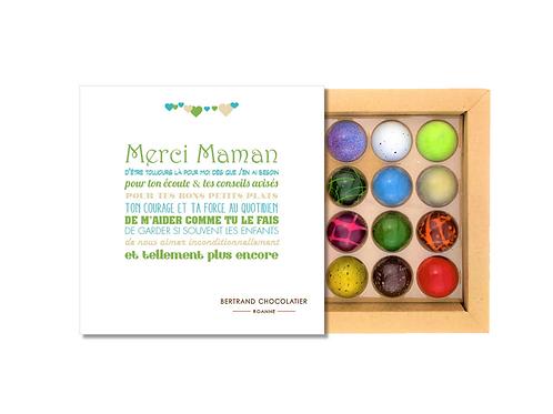COFFRET MERCI MAMAN 16 DOMES