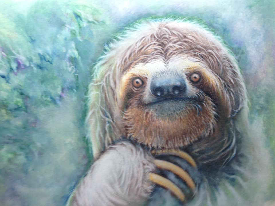 Bev Chick - Sloth Art