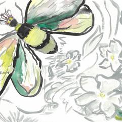Queen Bee in Apple Blossoms