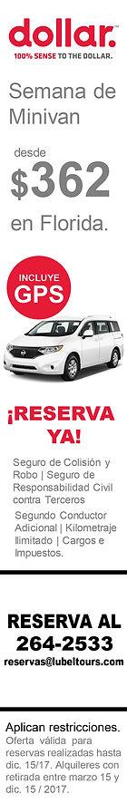 Promoción Minivan de Dollar