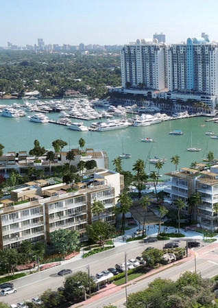 Aerial Photo Montage of Bella isla Luxury Apartments