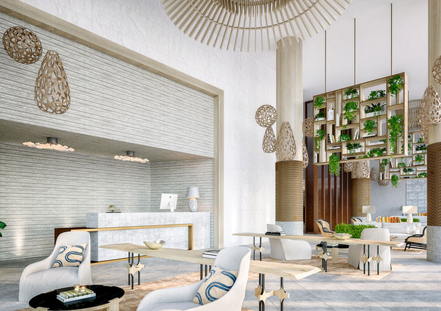 Artist Rendering of the main lobby lounge