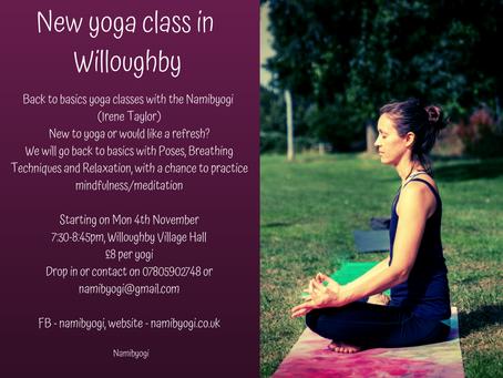 New yoga class starting!