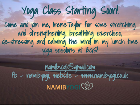 Now offering corporate yoga sessions!