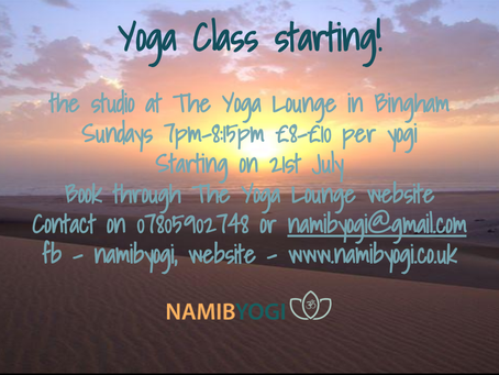 New class starting at The Yoga Lounge