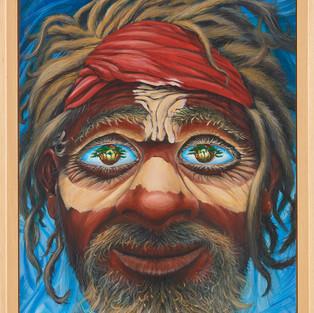 Rêve de l'Aborigène 2016 - 65 x 54cm Acrylique sur toile
