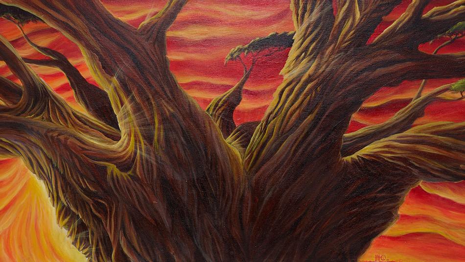 L'Arbr'Accueil - 2016 - 230 x 70cm acrylique sur bois