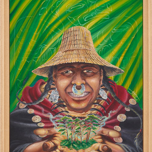 Tsimchian - Rêve de l'Aborigène 2018 - 65 x 54cm Acrylique sur toile