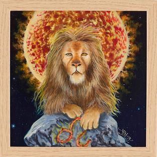 Leo I - 2020 - 20 x 20cm acrylique sur bois