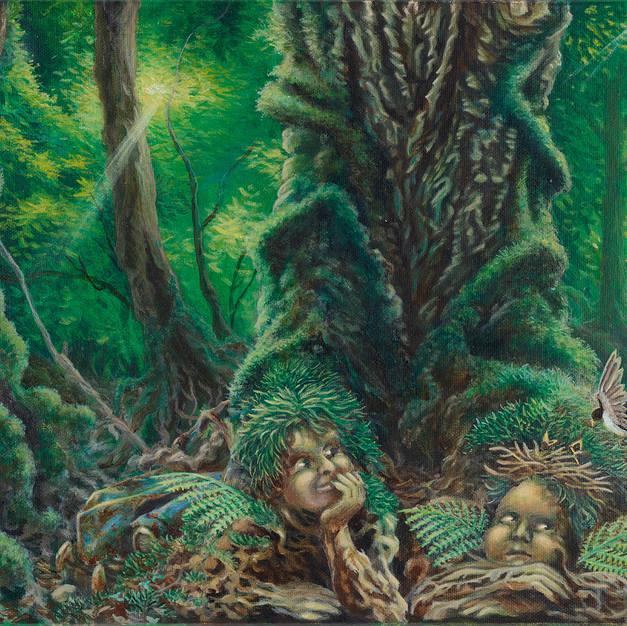 Madone Hirondelle - 2020 - 27 x 41cm acrylique sur toile