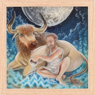 Aquarius/Taurus - 2020 - 20 x 20cm acrylique sur bois
