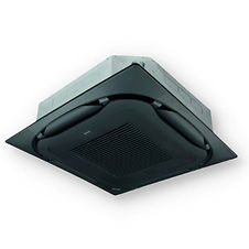 AC CEILING CASSETTE ROUND FLOW BLACK PAN