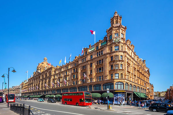 Street-view-of-Harrods-department-store-