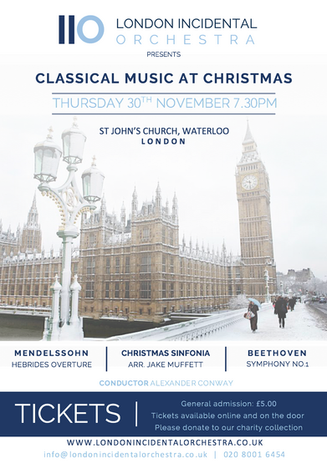 Classical music at christmas poster