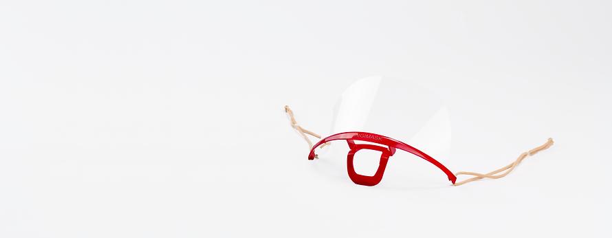 Higimask Original red, Transparent Mask