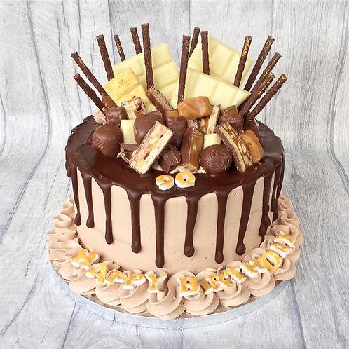 Chocolate Buttercream Drip Cake