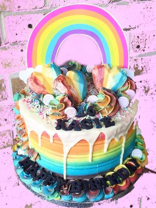 Love Is Love Drip Cake
