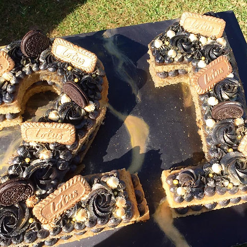 Black & Gold Number Cakes
