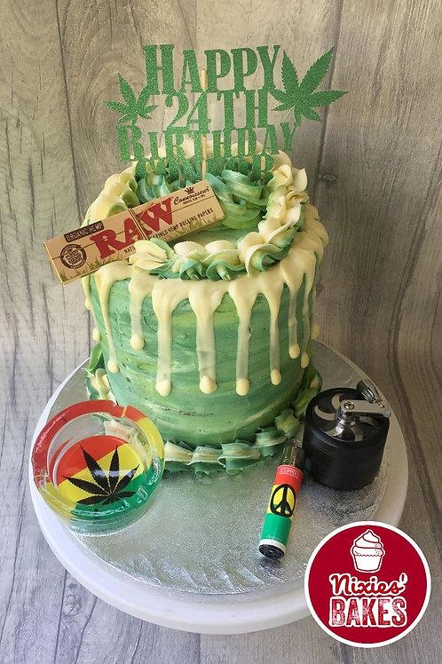Smoking Theme Drip Cake