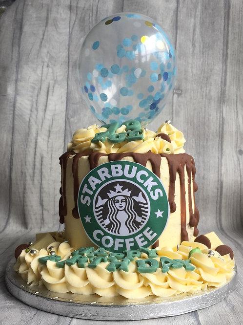 Starbucks Drip Cake