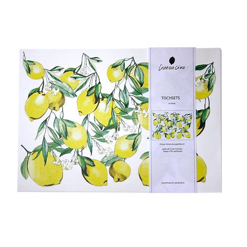 Tischsets Zitronen aus Papier 24Stk.
