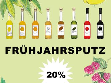 FRÜHJAHRSPUTZ! Jetzt im Online Shop 20% auf ALLES.                                       Bis 20.Apri