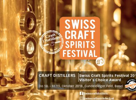 SWISS CRAFT SPIRITS FESTIVAL 18./19.Oktober 2018